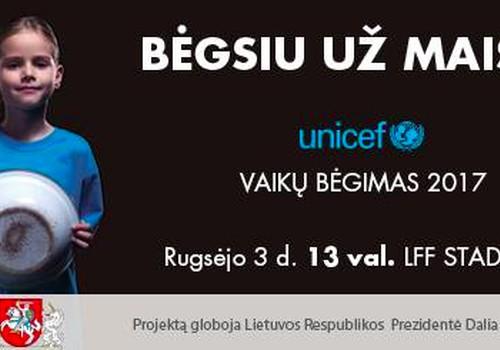 """Dalyvaukite """"Unicef vaikų bėgime 2017"""" - rugsėjo 3 d."""