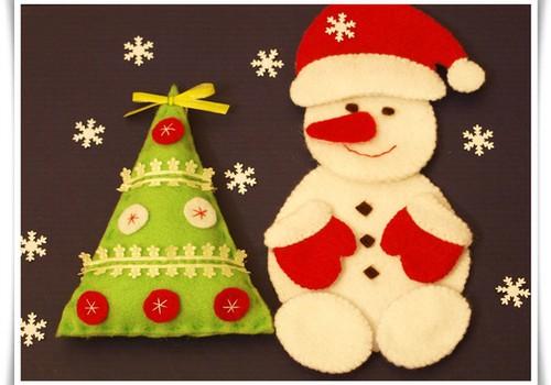 Siuvame kalėdinę eglutę