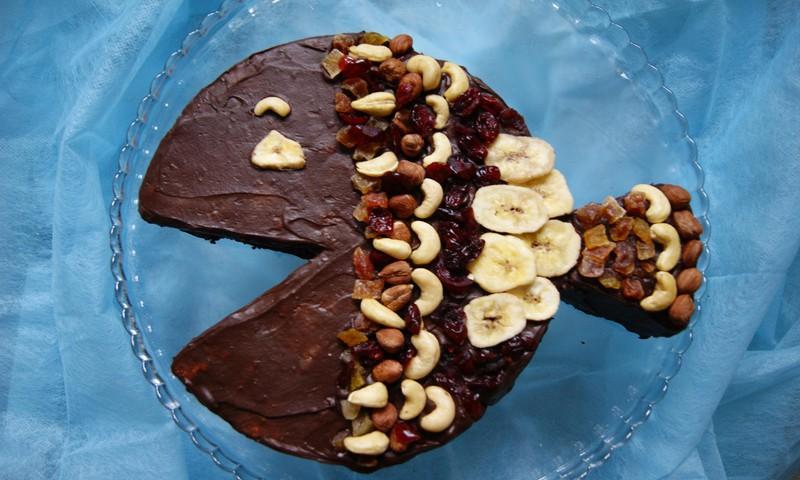 Nekeptas tortas iš krekerių – tortas žuvytėms