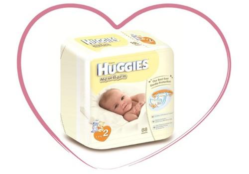 Naujos sauskelnės Huggies® Newborn su drėgmės indikatoriumi ir specialia kišenėle