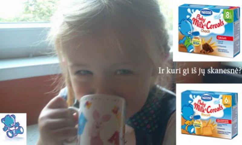 Kaip Emilija ragavo Nestle geriamas košytes