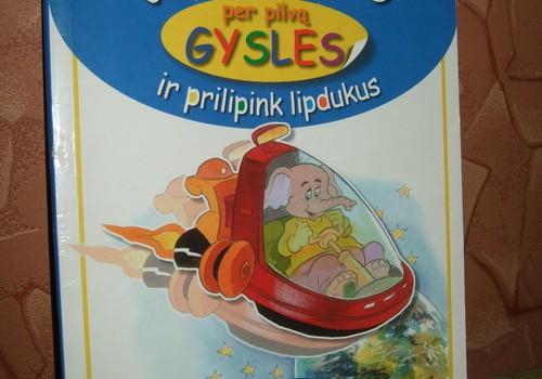 "Vaikiškos knygelės recenzija ""Įmink mįsles per pilvą gysles ir prilipink lipdukus"""