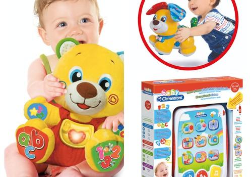 Baby CLEMENTONI žaislų testavimas: 3 laimingosios