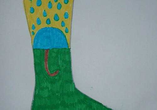 Airidas jau nupiešė savo svajonių kojinytes...