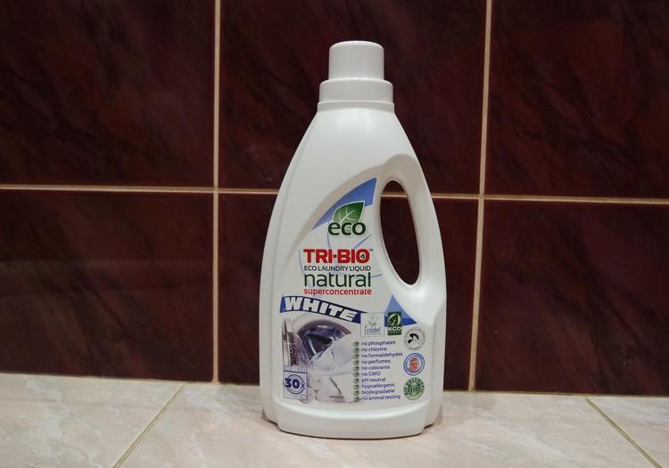 TRI-BIO švaros priemonių apžvalga. Antra dalis - skystas eko skalbiklis baltiems audiniams