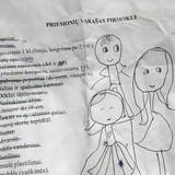 Mokyklos atsiųstas sąrašas papuoštas U piešiniais ;)