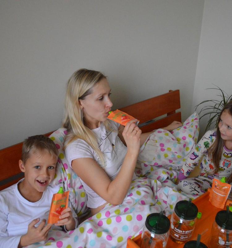 Pusryčiai į lovą - kiekvienos mamos svajonė