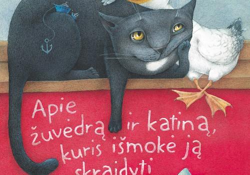"""Laimėk knygą """"Apie žuvėdrą ir katiną, kuris išmokė ją skraidyti"""""""