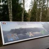 Kelionės metu sutinkame stendus su A.Baranausko Anykščių šilelio ištraukomis bei gyvūnų/ augalų aprašymais ir nuotraukomis