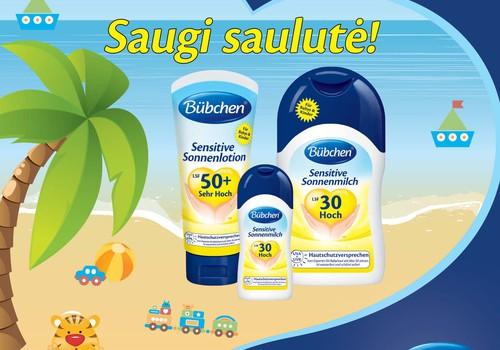 IEŠKOME TESTUOTOJŲ: Išbandyk vaikišką Bubchen pienelį nuo saulės!