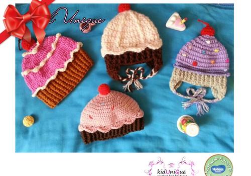 Huggies® šventinių dovanų katalogas: megztos kepurytės Kidunique