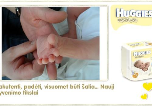 Hubertas auga kartu su Huggies ® Newborn: 2 gyvenimo diena