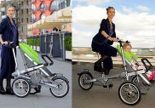 Vežimėlis ir dviratis viename