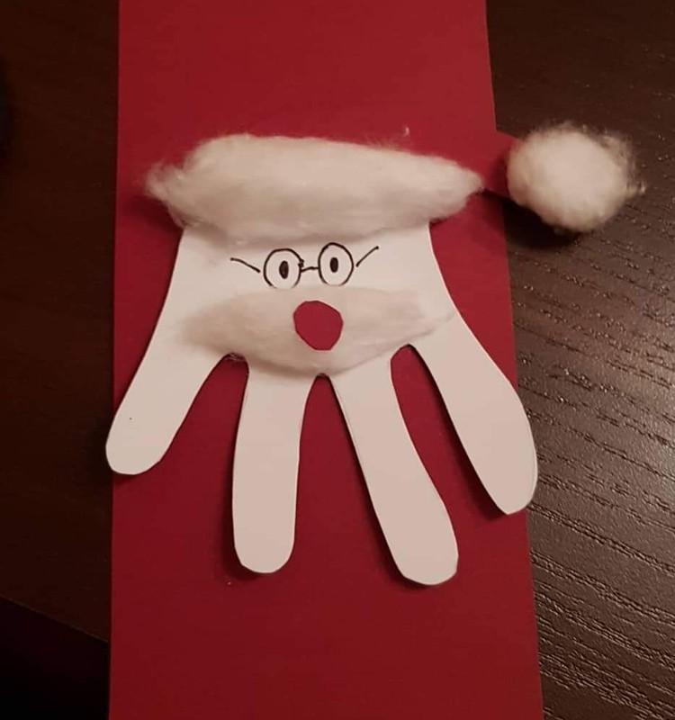 Kalėdinis atvirukas savo ir su savo rankomis