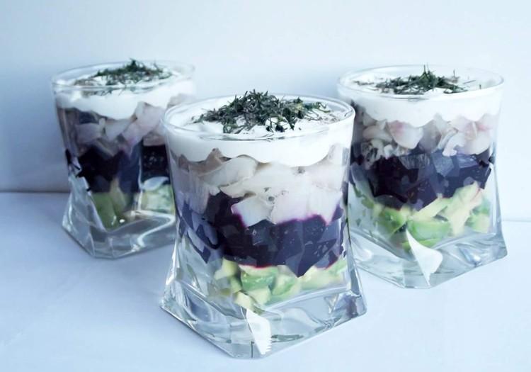 Spalvingosios silkutės salotos