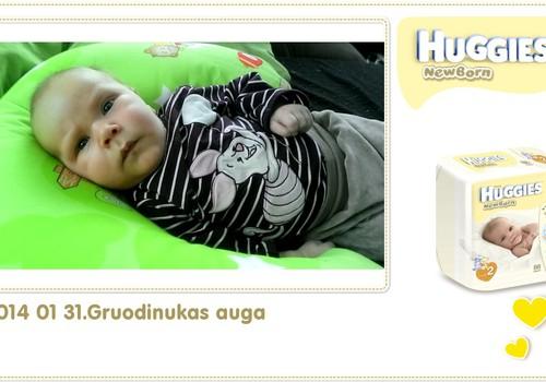 Hubertas auga kartu su Huggies ® Newborn: 41 gyvenimo diena