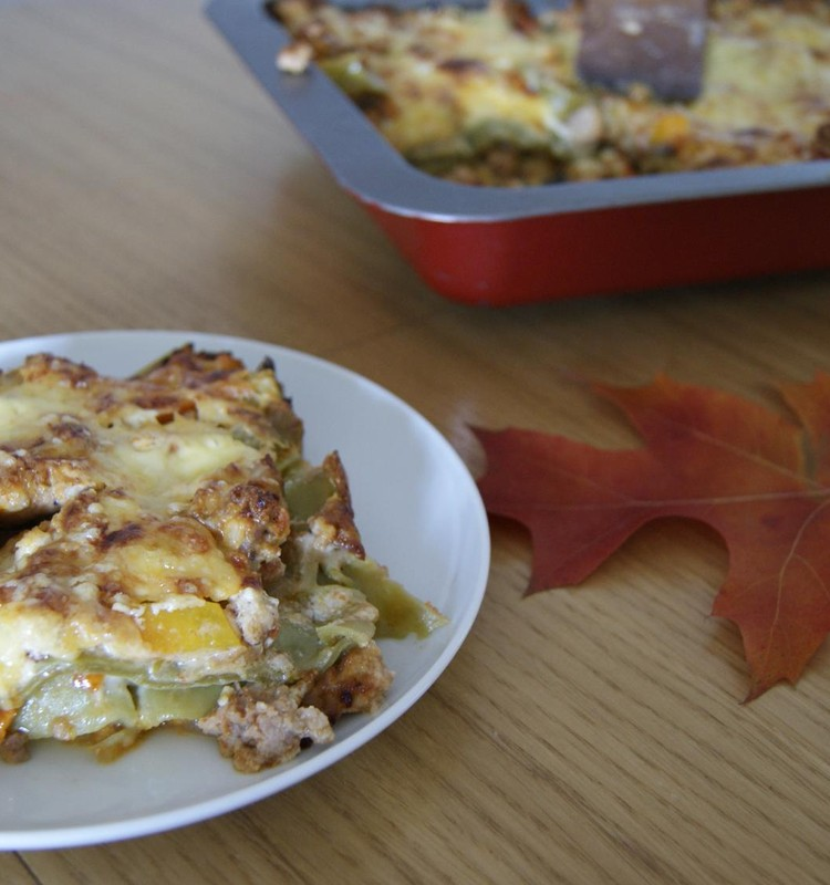 Receptų blogas: lazanija su moliūgu ir mėsa