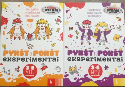 "Kas laimi ""PYKŠT ir POKŠT eksperimentai""2 knygeles"