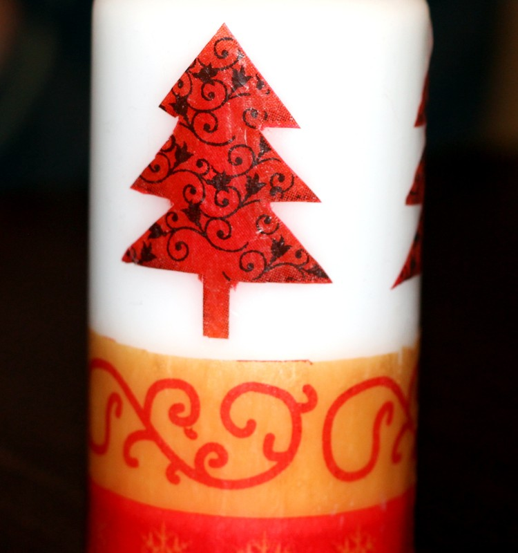 Rankų darbo dovanėlės: papuoškite savo žvakę.