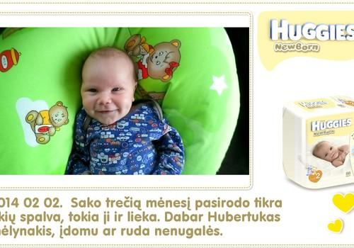 Hubertas auga kartu su Huggies ® Newborn: 42 gyvenimo diena