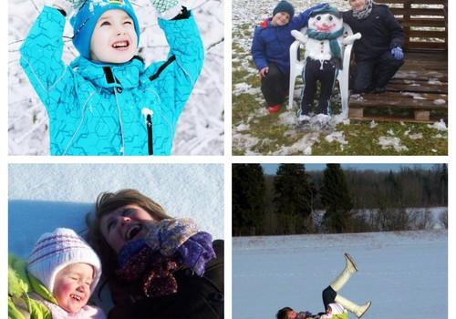 """Kaip MK mažieji laukia sniego arba kas laimi knygą """"Nevala Bertis. Sniegas"""""""