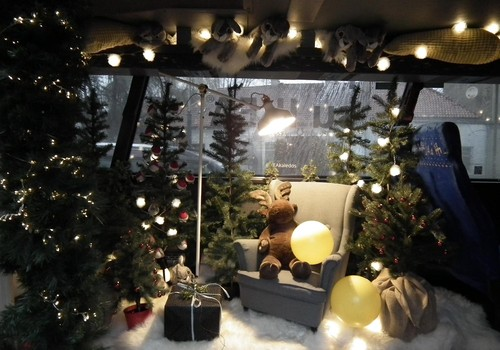 Autobusas, kuriame pajausite Kalėdas