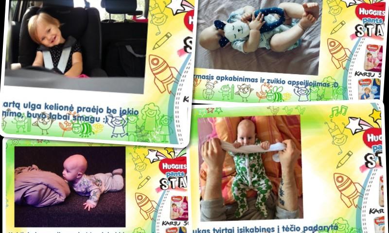 Huggies® Star: mažylių pasiekimai ir I savaitės laimėtoja