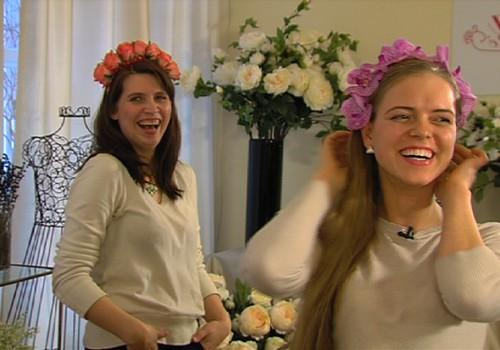 Kaip pasigaminti gėlių lankelį? + VIDEO