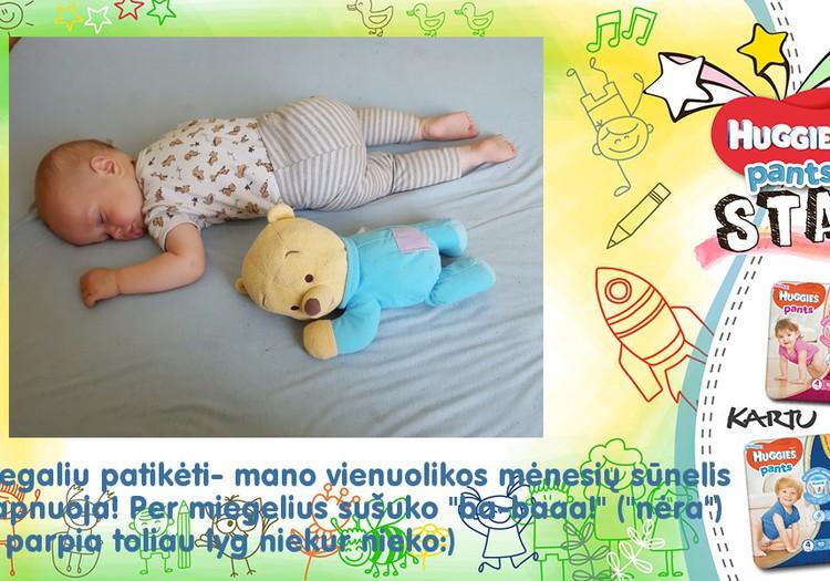 Mano mažylis sapnuoja!