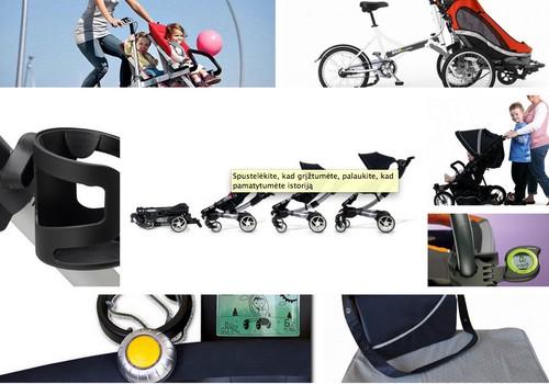 """Kūrybinga, praktiška, šiuolaikiška: """"gadžetai"""" vaikų vežimėliuose"""
