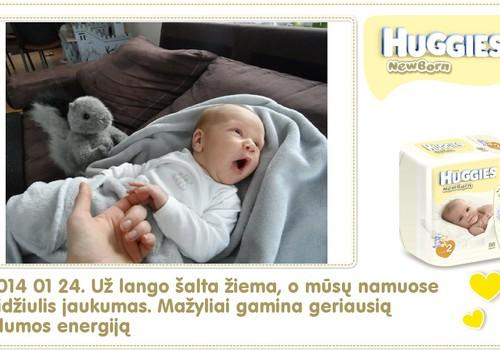 Hubertas auga kartu su Huggies ® Newborn: 36 gyvenimo diena