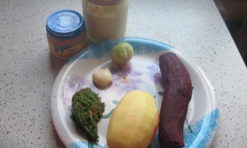 Burokėlių sriuba su Gerber kalakutiena