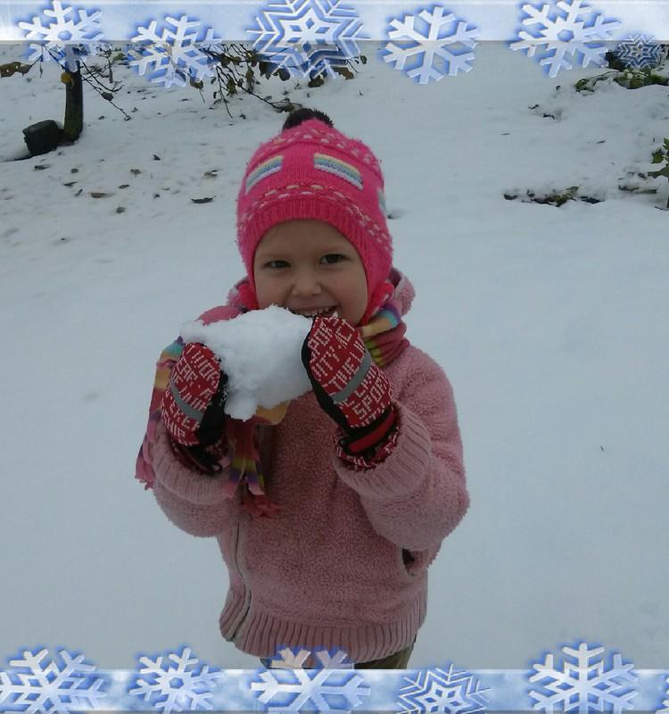 Aplankė mus sniegas... :)