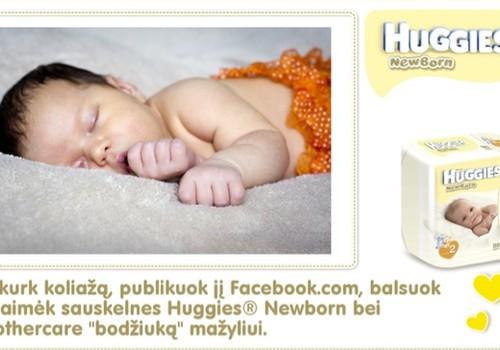 Paskutinė diena kurti savo naujagimio koliažą ir laimėti Huggies® Newborn bei pirmą smėlinuką!