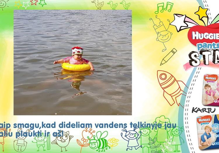 Aš moku plaukti!