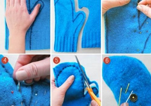 Pirštinės iš seno megztinio