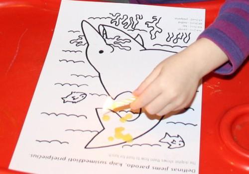 Piešiant naudojame vašką