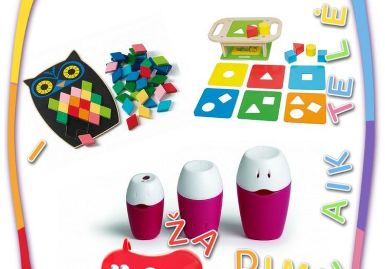 Žaislų naujienos: spalvos, rūšiavimas ir vanduo