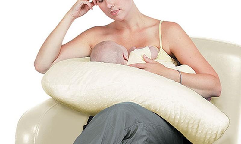 Maitinimo pagalvė ir vokelis kūdikiui