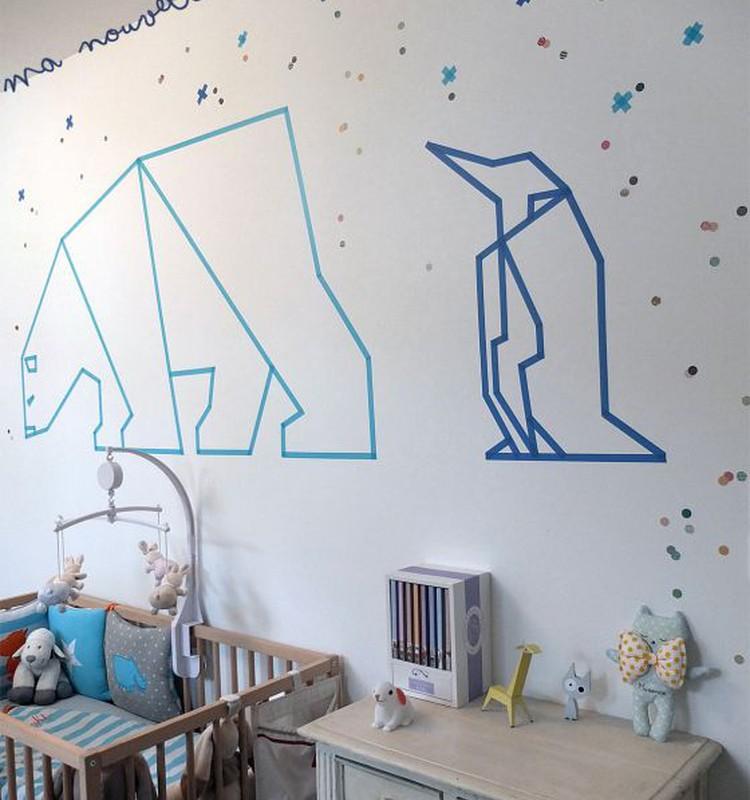 Realių svajonių vaiko kambarys, kai negali nei gręžti, nei keisti sienų spalvos