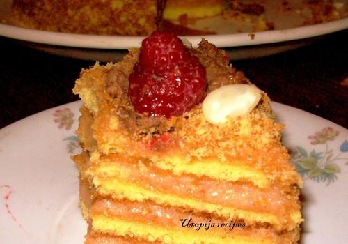 """Tortas su obuolių kremu arba """"obuolienės atsargų tortas"""""""