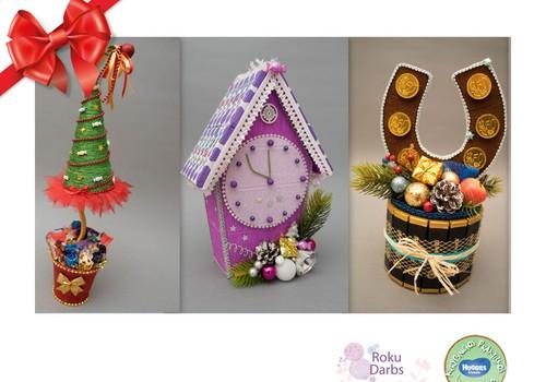 Huggies® šventinių dovanų katalogas: rankų darbo saldainių suvenyrai