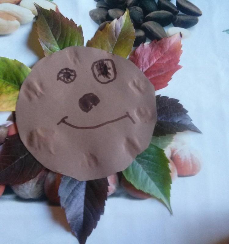 Kuriame iš rudens gėrybių: lapinas ir saulytė :)