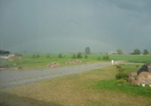 Gamtos išdaigos pajūryje: kruša, griaustinis, žaibai