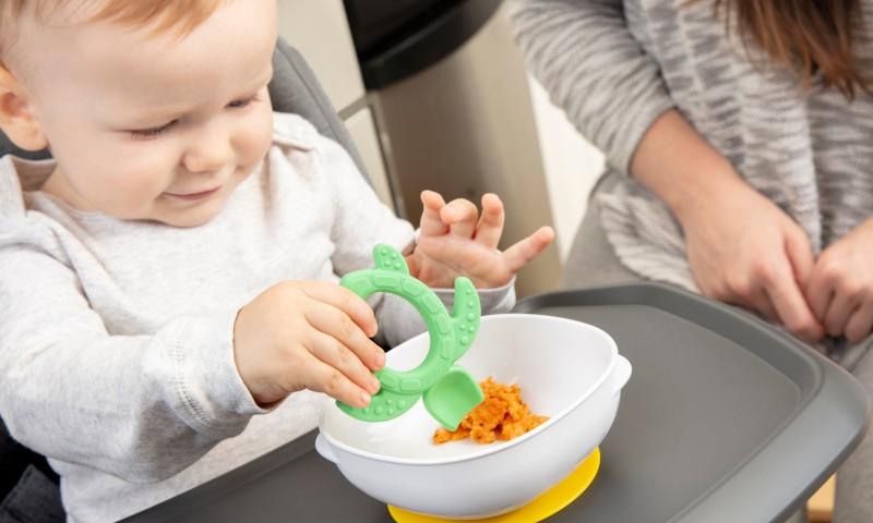 """TESTAVIMAS: DR.BROWN'S pirmasis silikoninis šaukštelis-kramtukas """"Vėžlys"""""""