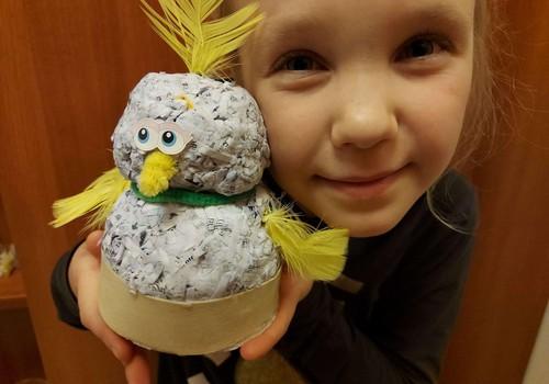 Augustės dienoraštis: Velykinis viščiukas iš popieriaus atliekų