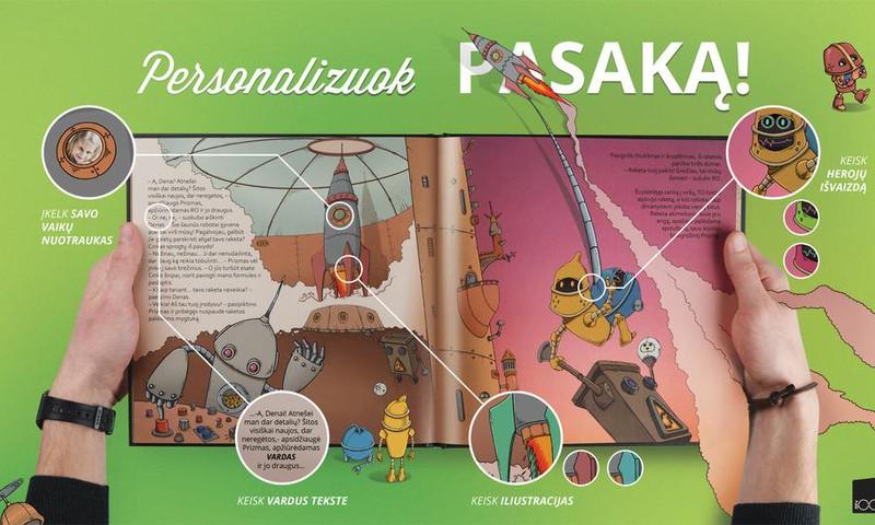 ZOOMBOOK personalizuotą pasakų knygą įteikiame...