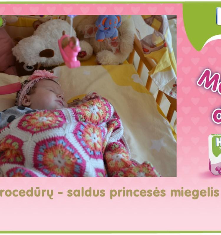 Po grožio procedūrų - saldus princesės miegelis