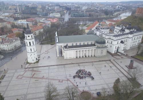 Unikali dovana Lietuvai – rekordu tapti pretenduojantis iš žmonių sudarytas Vytis
