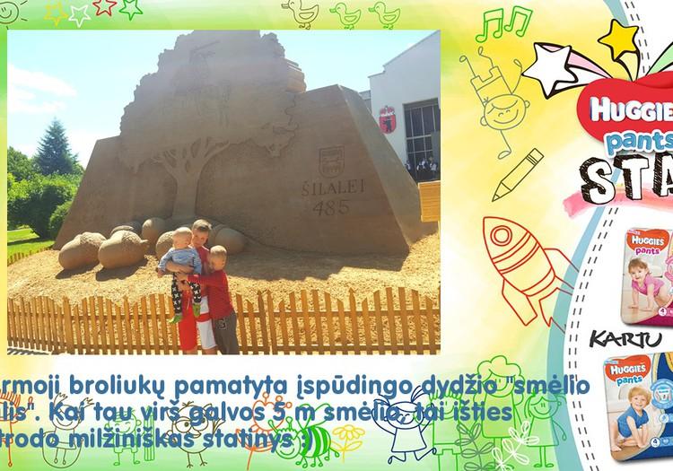 Kai tu mažas, o smėlio skulptūra milžiniška...
